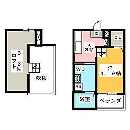 sofitel西田町[2階]の間取り
