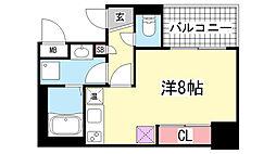 アスヴェル神戸元町2[8階]の間取り