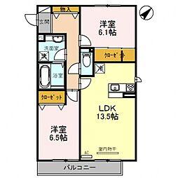 仮)D-room土師ノ里駅前[201号室号室]の間取り