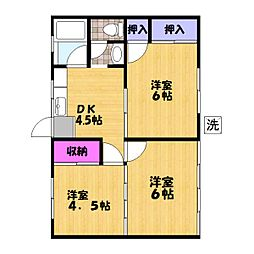 埼玉県八潮市大字伊草の賃貸アパートの間取り