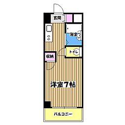 アクロス立川II[4階]の間取り