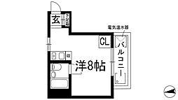 兵庫県西宮市仁川百合野町の賃貸マンションの間取り