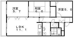 新潟県新潟市江南区亀田向陽1丁目の賃貸マンションの間取り