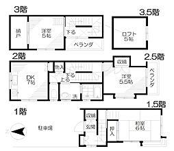 [テラスハウス] 東京都西東京市向台町4丁目 の賃貸【東京都 / 西東京市】の間取り