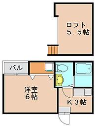ウッドビレッジ1[2階]の間取り