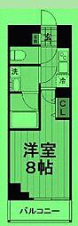 東京都荒川区南千住の賃貸マンションの間取り