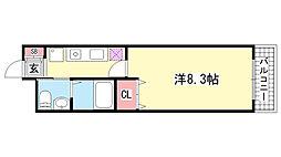 ヴィラ神戸8[401号室]の間取り