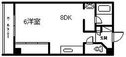 日昇ビル[502号室]の間取り