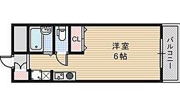 サントピア阿倍野[4階]の間取り