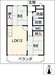 ニューマリッチK2[2階]の間取り