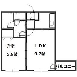 PRIME URBAN円山公園[307号室]の間取り