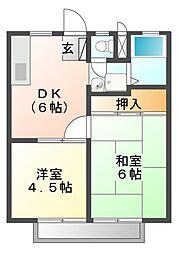 レジデンス白鳥 A棟[2階]の間取り
