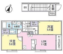 東京都品川区豊町5丁目の賃貸アパートの間取り