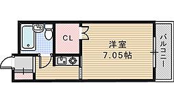 ロイヤルコート松虫[202号室]の間取り