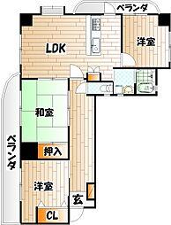 ファミリーハウス勝山[8階]の間取り