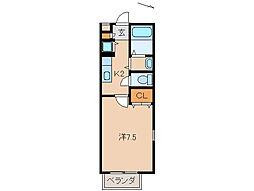 クレールレーブ[1階]の間取り