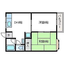 サンコーポ野田I[201号室]の間取り