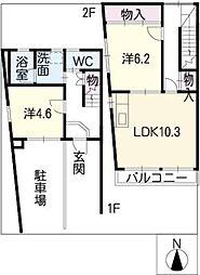 ヨコチ105[2階]の間取り