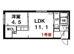 (仮称)北13条西15丁目MS 4階1LDKの間取り