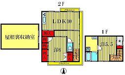 コーポ栄荘[2階]の間取り