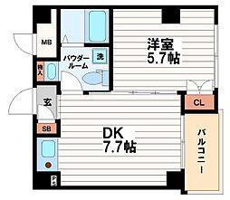 IZUROKU北浜[3階]の間取り