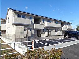 広島県福山市神辺町大字新湯野1丁目の賃貸アパートの外観