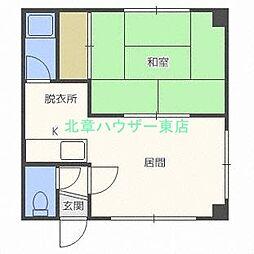 北海道札幌市東区北二十三条東4丁目の賃貸マンションの間取り