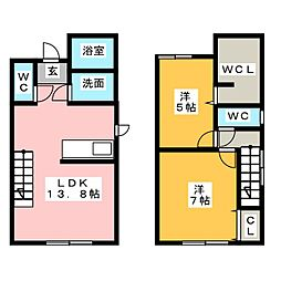 [テラスハウス] 群馬県高崎市緑町1丁目 の賃貸【/】の間取り