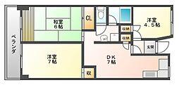 2・3・3博多II[9階]の間取り