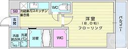 仙台市営南北線 広瀬通駅 徒歩8分の賃貸アパート 1階1Kの間取り