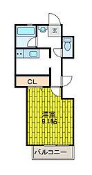 神奈川県相模原市南区栄町の賃貸マンションの間取り