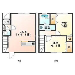 [テラスハウス] 北海道札幌市北区太平二条3丁目 の賃貸【/】の間取り