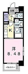 高松琴平電気鉄道琴平線 栗林公園駅 徒歩8分の賃貸マンション 8階1Kの間取り
