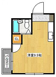 シャンタルII[2階]の間取り