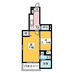 サン・ハイツ・すみれ[1階]の間取り