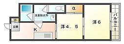 オスカー藤田[4階]の間取り