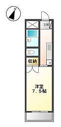 愛知県日進市北新町二段場の賃貸マンションの間取り