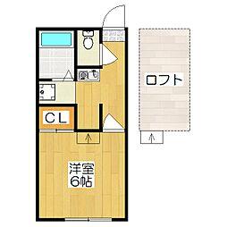 レオパレスイン京都[2階]の間取り