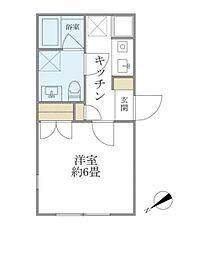 東京メトロ東西線 門前仲町駅 徒歩6分の賃貸マンション 4階1Kの間取り