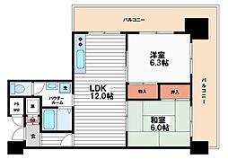 ライオンズマンション東本町[8階]の間取り