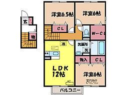スピリトーゾ A・B棟[2階]の間取り