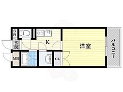 阪急千里線 山田駅 バス10分 山田宮の前下車 徒歩21分の賃貸マンション 3階1Kの間取り