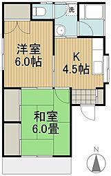 コーポ戸口[2階]の間取り