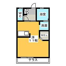 ボートハウス[2階]の間取り
