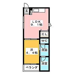エスペランサ浄心[3階]の間取り