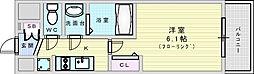 Osaka Metro御堂筋線 東三国駅 徒歩12分の賃貸マンション 10階1Kの間取り