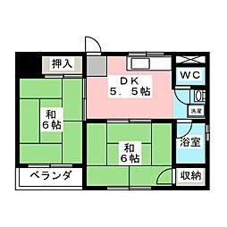 金船マンション[2階]の間取り