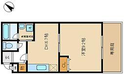 フジパレスヒサホ[2階]の間取り