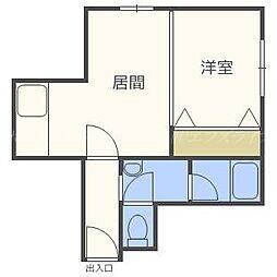 北海道札幌市東区北三十四条東12丁目の賃貸マンションの間取り