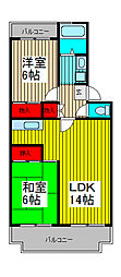プリムローズ南浦和[3階]の間取り